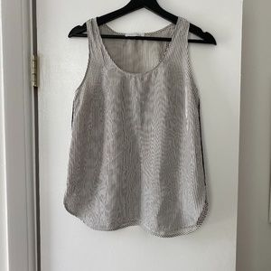 Everlane Stripe Silk Tank